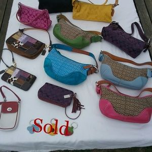 Authentic Coach Handbags, Wristlets and Keychains
